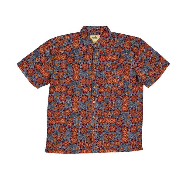 KG-Bamboo Dreaming Men's Shirt - BUSH TOMATO DREAMING