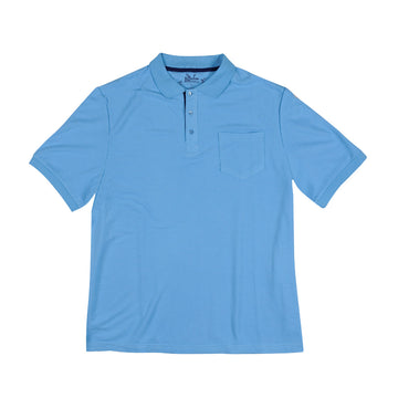 KG-Bamboo Fibre Men's Polo - POLO SKY BLUE