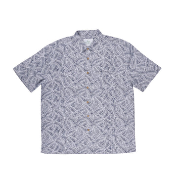 KG-Bamboo Fibre Men's Shirt - NAVY ILLUSION