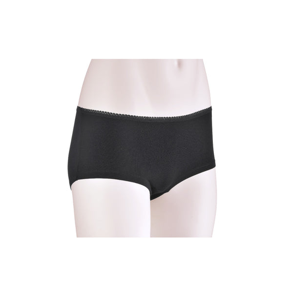 KG-Bamboo Women's Underwear - BOY LEG - BLACK