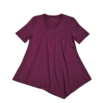 KG-Women's Bamboo Swing Tee - PLUM