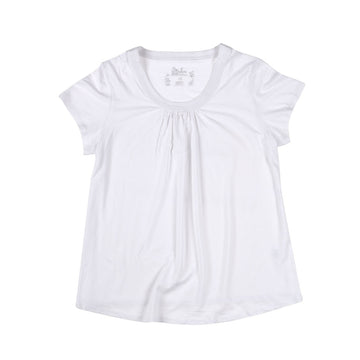 KG-Women's Bamboo Tee Shirt - WHITE