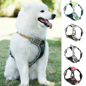 Reflective No Pull Dog Harness Vest also With Handle S To XL 5 Colors In Stock
