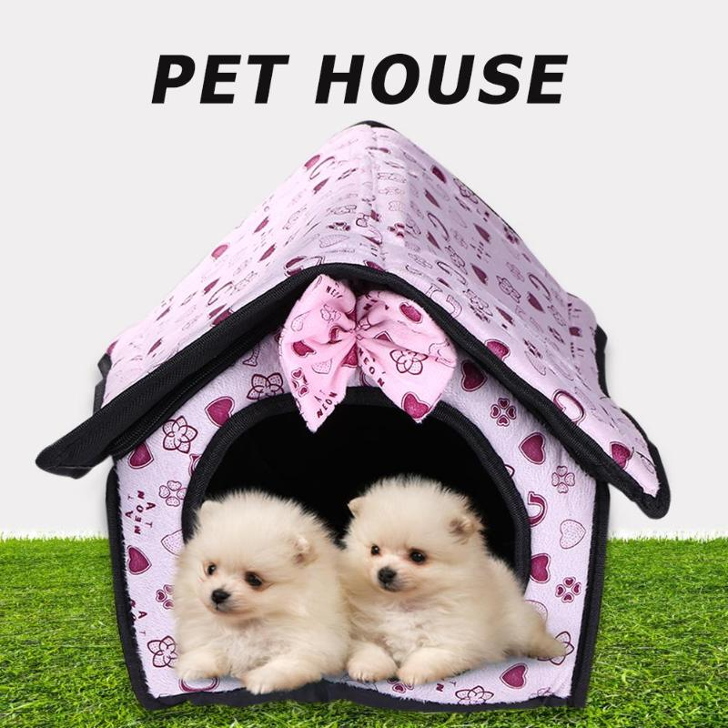 Pet Bed Warming House Soft Material Nest Dog House Baskets Kennel for Cat Puppy Soft and Smooth Tasteless and Harmless