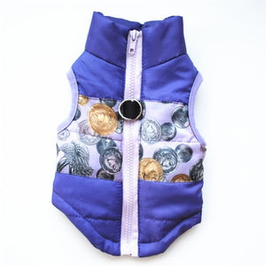 Pet Warm Winter Windproof  Vest For Small Dog