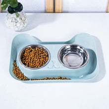 Load image into Gallery viewer, High Quality Universal Stainless Steel Double Bowl Feeder