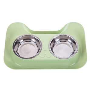 High Quality Universal Stainless Steel Double Bowl Feeder