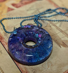 Chroma Halo Resin Necklace - blue/pink/purple
