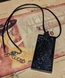 Black & Gray Resin Pendant Necklace