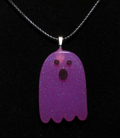 Surprised Ghost Resin Necklace