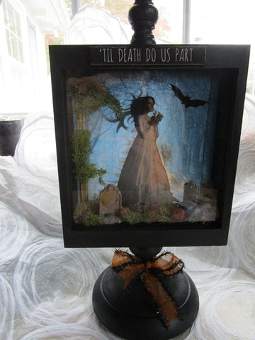 Altered Art - Til Death Do Us Part - Halloween Decor