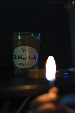 The Midnight Society -- 8 oz. Handmade Soy Candle