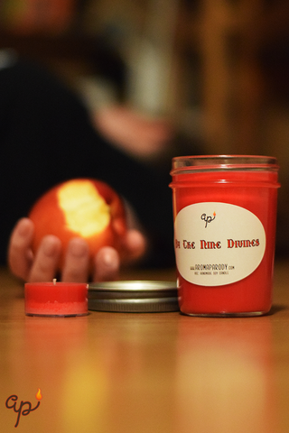 By the Nine Divines -- 8 oz. Handmade Soy Candle