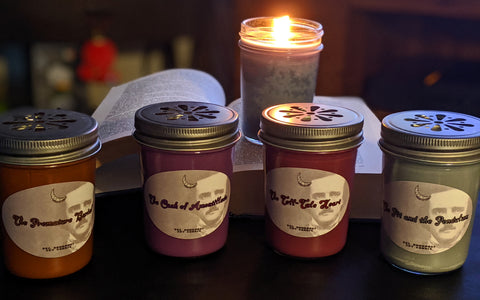 Edgar Allan Poe Soy Candle Collection (8 oz. candles -- individually or set!)