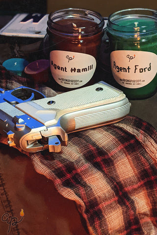Agent Ford & Agent Hamill -- 8 oz. Handmade Soy Candles