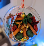 Yule Holiday / Winter / Christmas Glass Ball