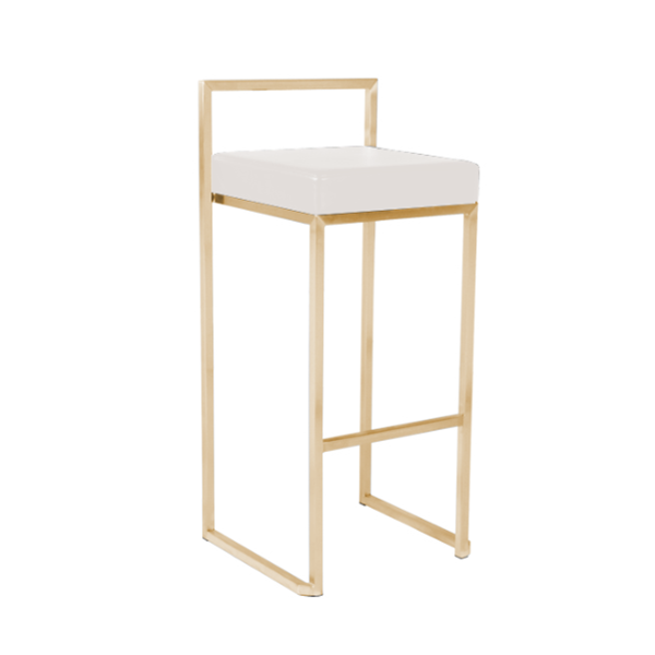 REPLICA CUBO HIGH STOOL (BRASS GOLD )
