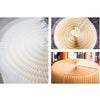 PLEATS ROUND TABLE ACRYLIC