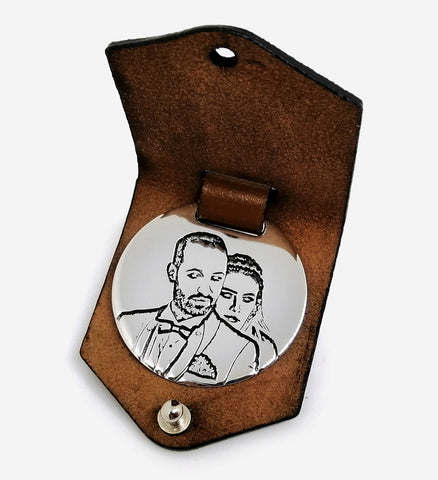 photo-engraved-leather-silver-keychain