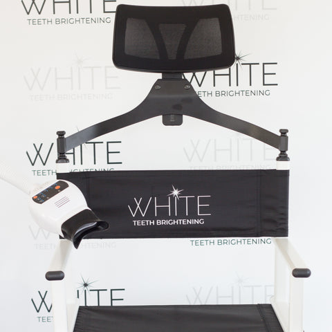 WHITE Teeth Brightening Portable Director Chair