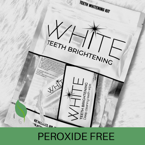WHITE Teeth Brightening Peroxide Free Teeth Whitening Kit