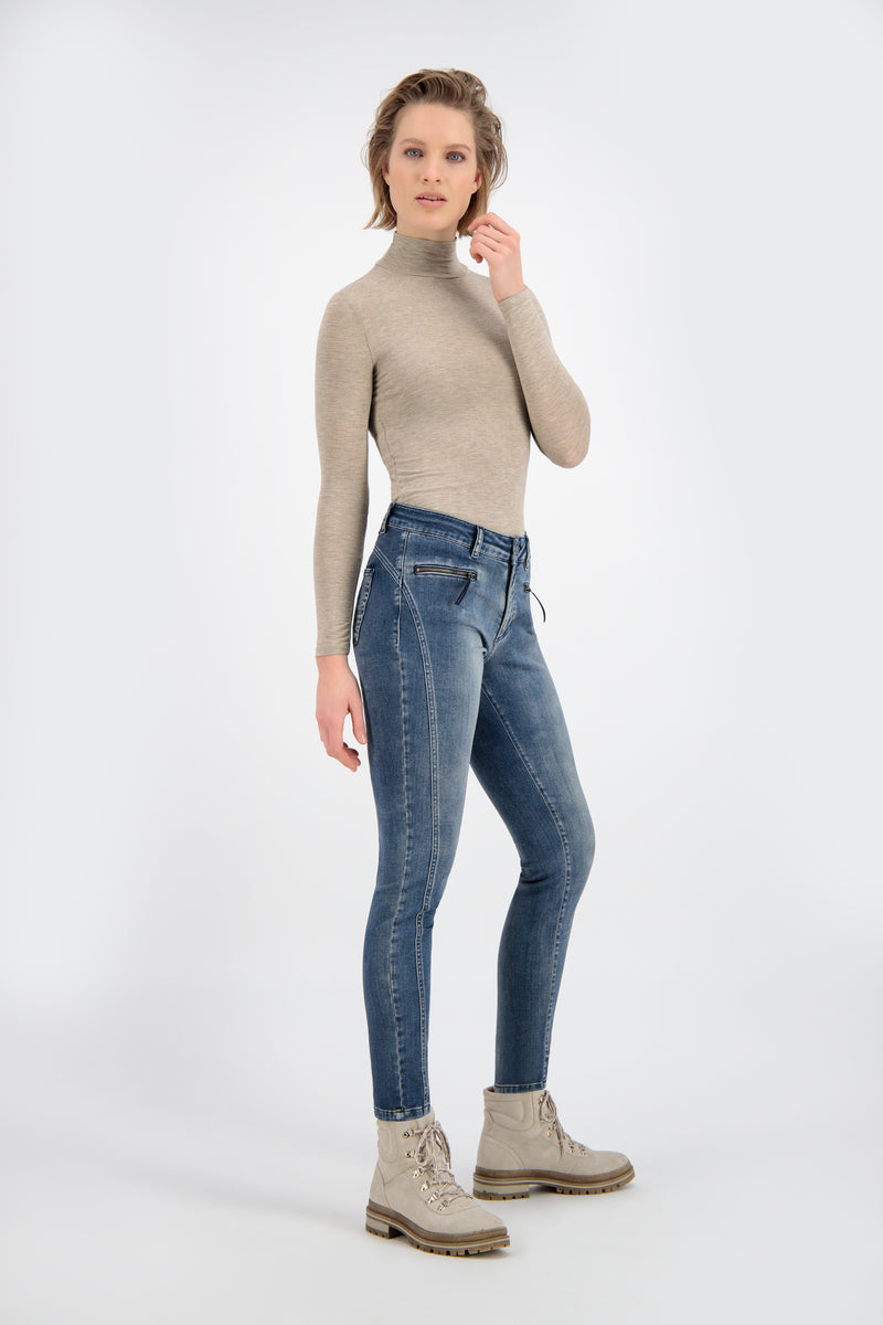 Dames jeans PARA-MI model ELIN Satin Denim