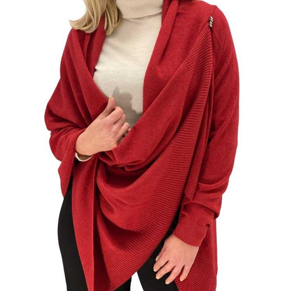 Poncho cashmere blend met een mouw - L&C Cashmere