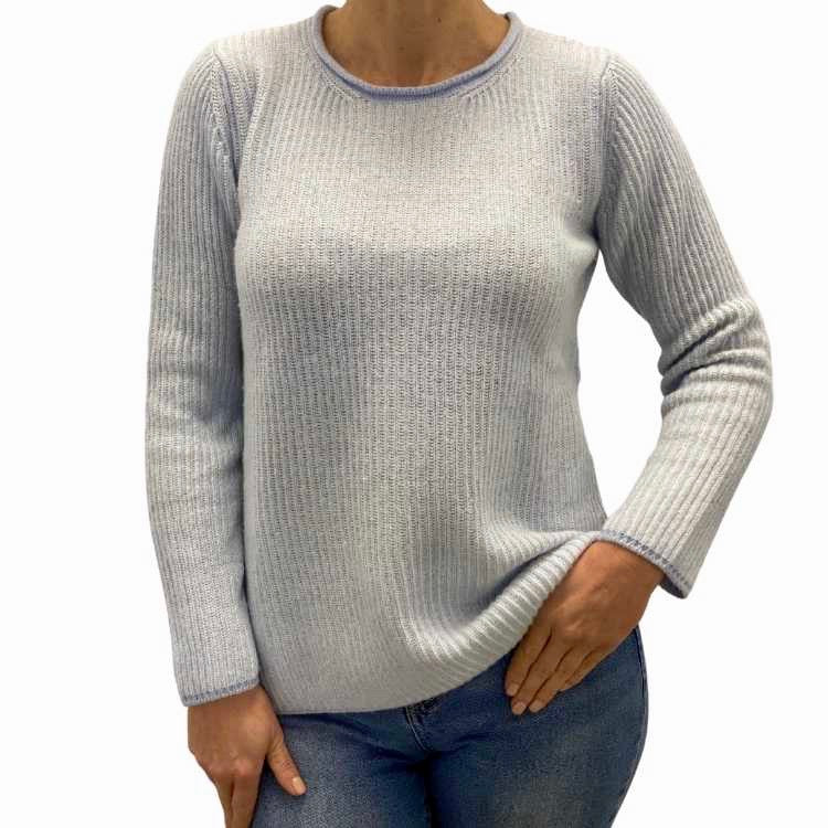 Dames mixcashmere en merinos fine wol pullover - Paquito