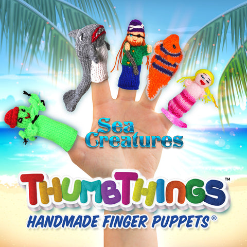 Shop for Sea Creature Finger Puppets for Pretend Play