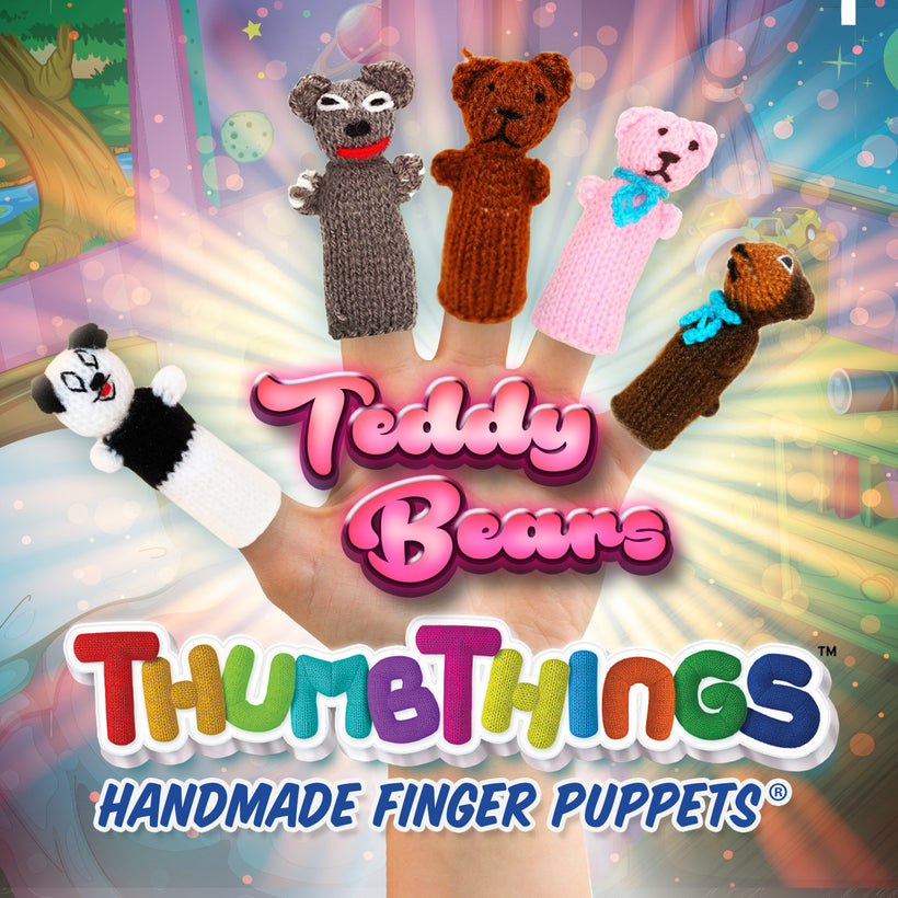 Classic Teddy Bear Finger Puppets