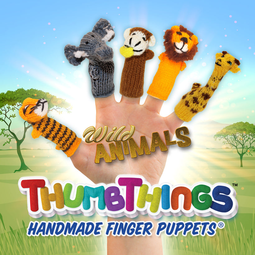The Fun Is In Your Hands! Wild & Exotic Animal Finger Puppets