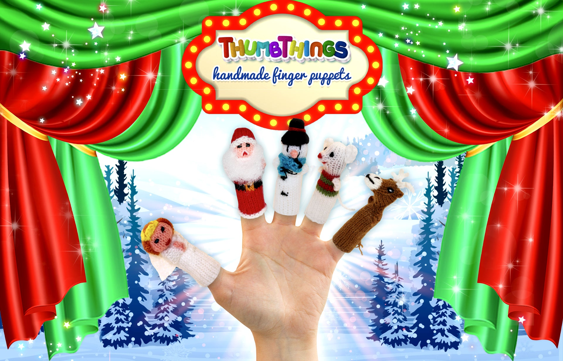 Christmas Character finger puppets by Thumbthings finger puppets
