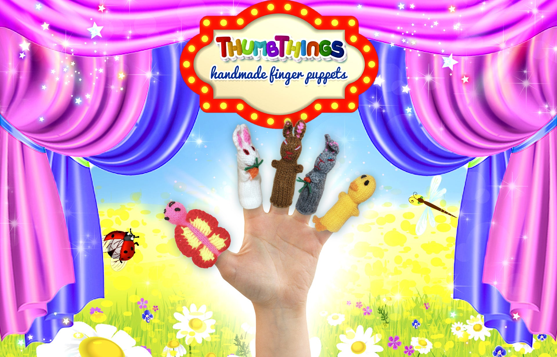Easter character finger puppets by Thumbthings finger puppets