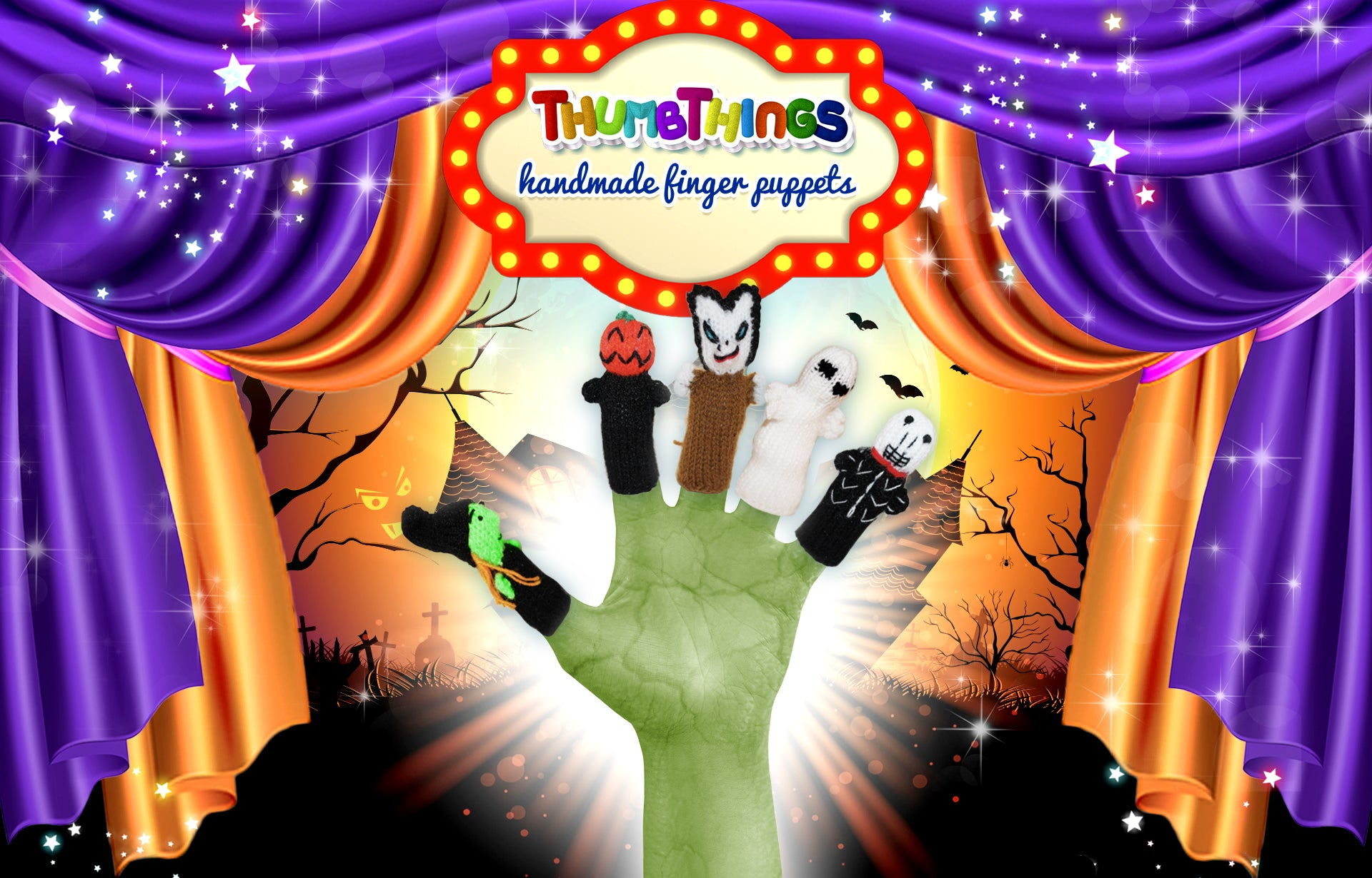 Halloween Finger Puppets by Thumbthings finger puppets