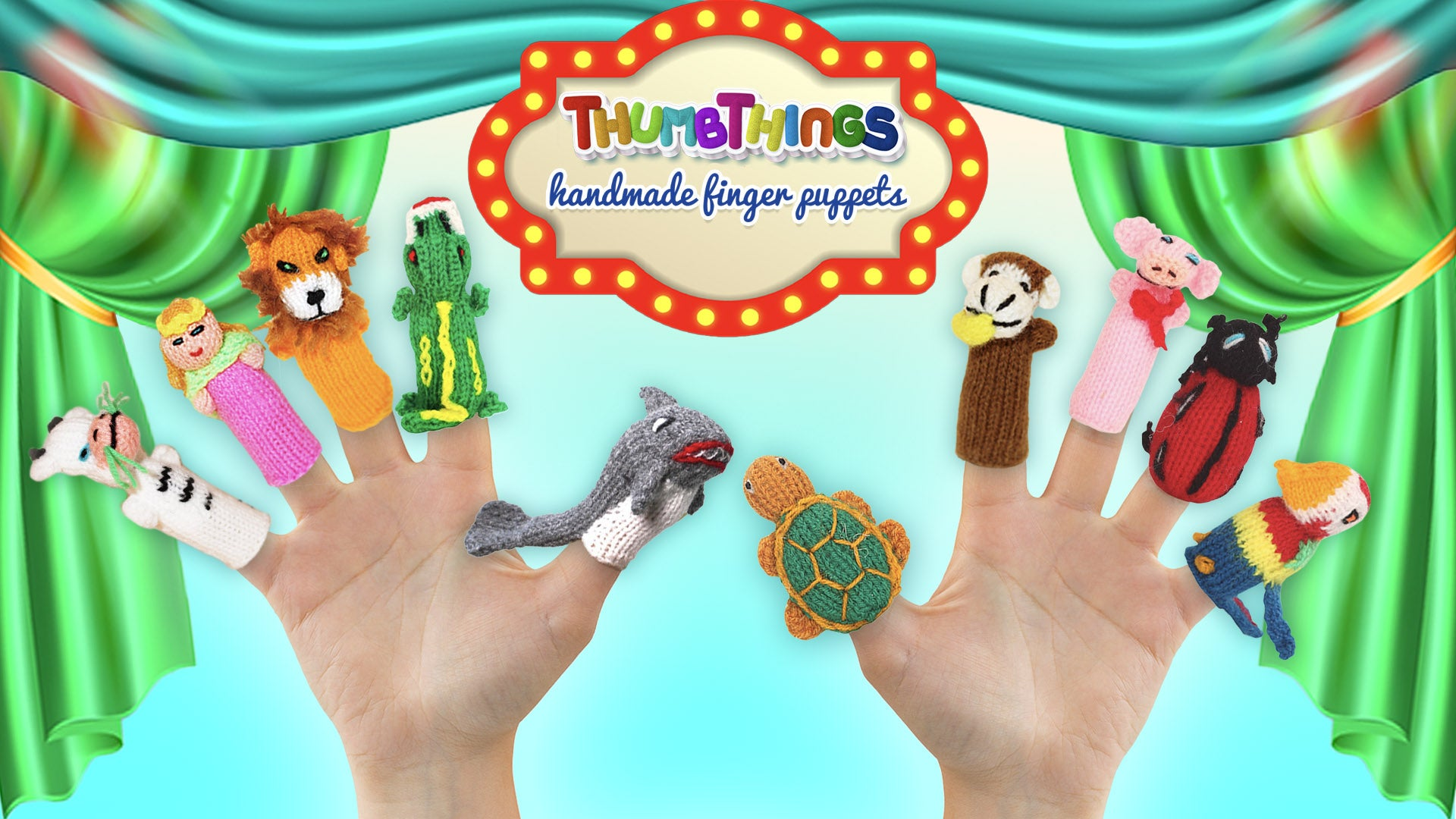 finger puppets in a finger puppet theatre