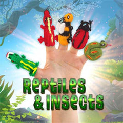buy reptile finger puppets, insect finger puppets, lizard finger puppets.