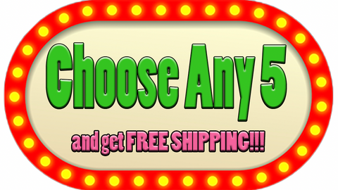 choose any 5 finger puppets and get free shipping