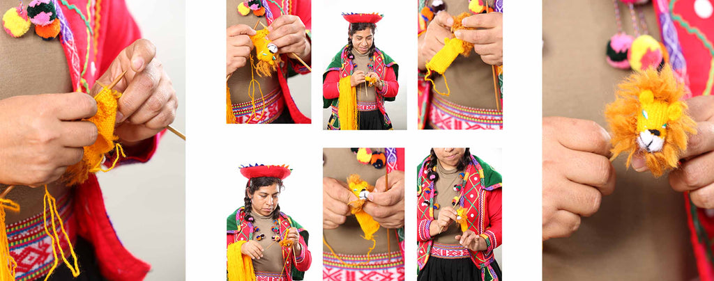 knitting finger puppets by hand, making finger puppets for children