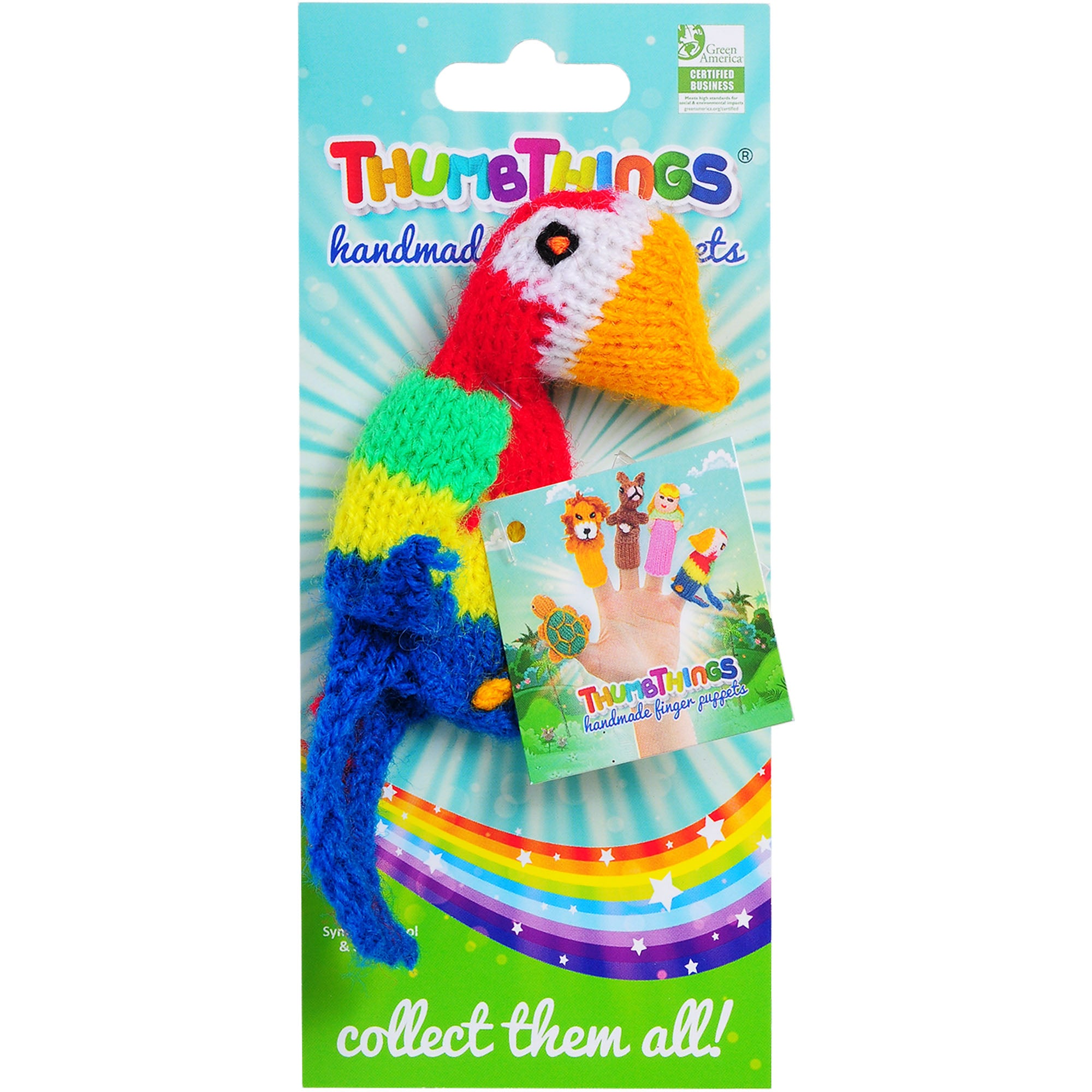 Thumbthings Parrot Finger Puppet