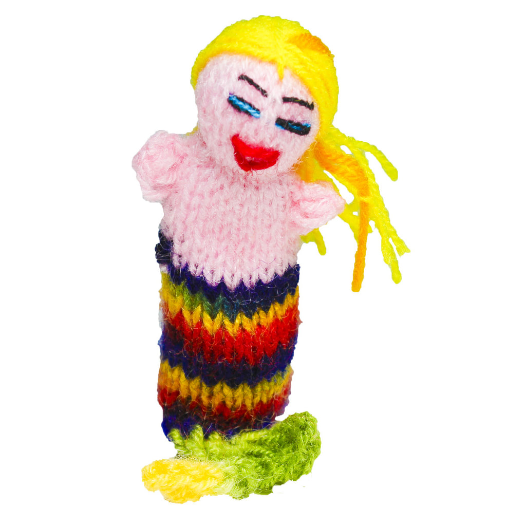 rainbow mermaid finger puppet