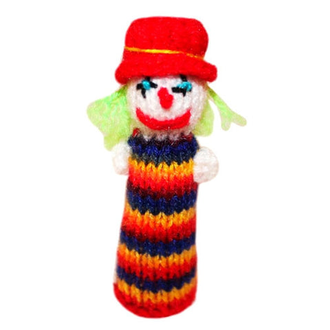 handmade clown finger puppet