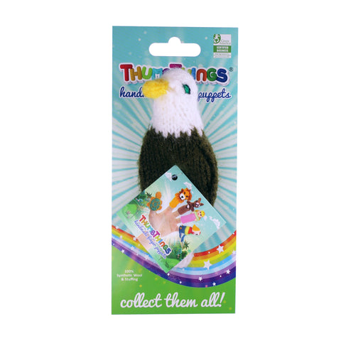American Bald Eagle Finger Puppet by ThumbThings Handmade Finger Puppets