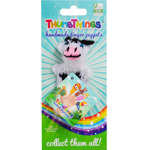 thumbthings baby bovine cow finger puppet