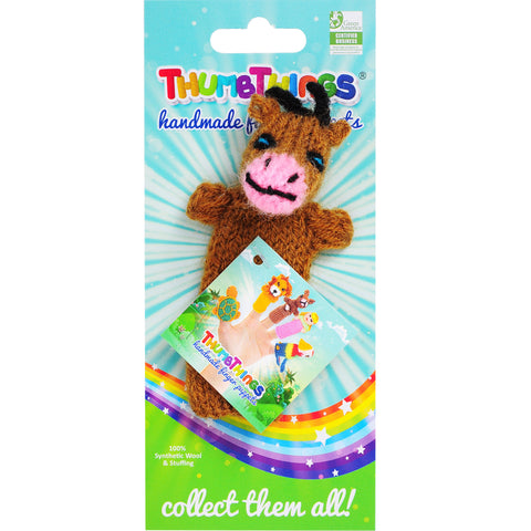 Thumbthings Brown Cow Finger Puppet