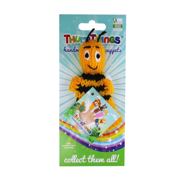 bumble bee finger puppet by thumbthings handmade finger puppets