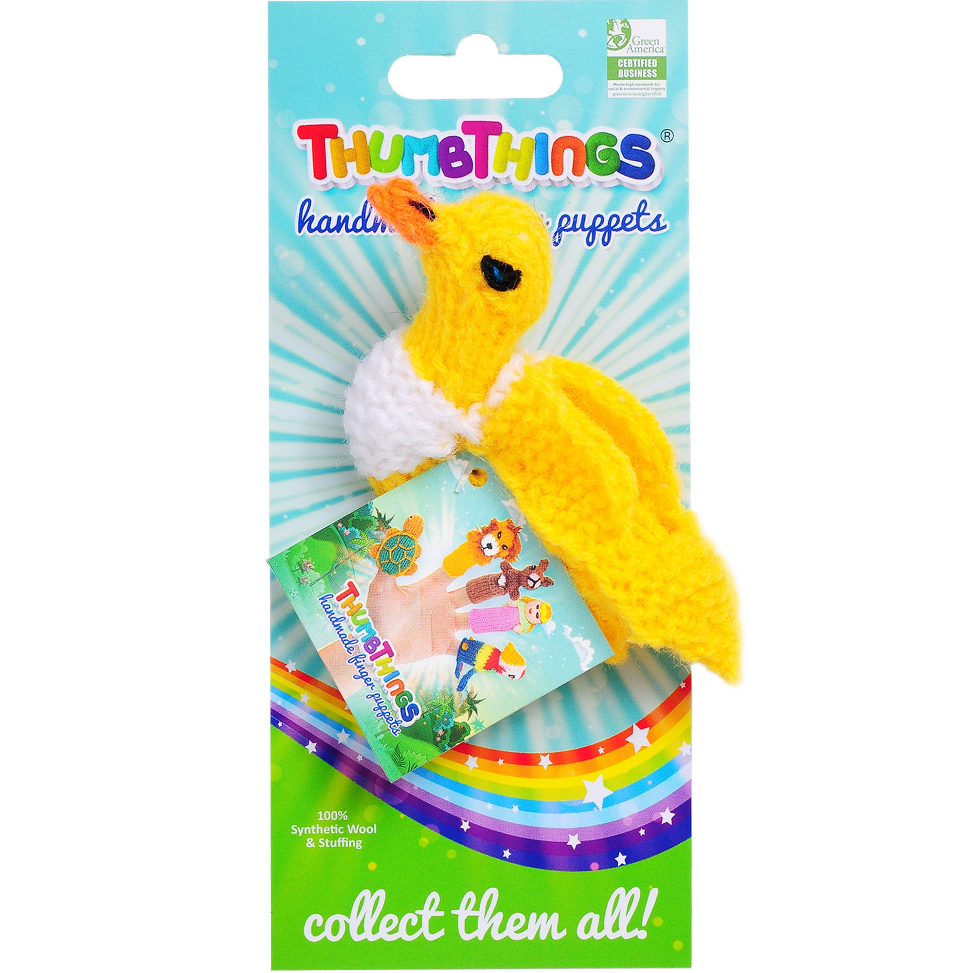 Thumbthings Canary Finger Puppet
