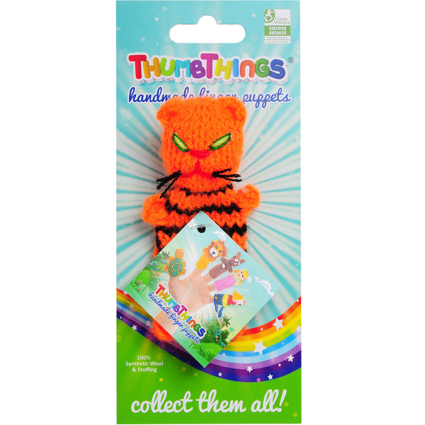 ThumbThings Orange Striped Cat Finger Puppet