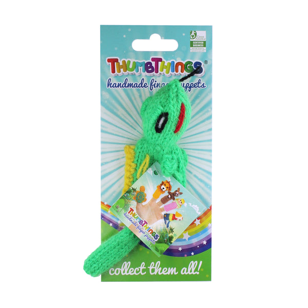 chameleon finger puppet by thumbthings finger puppets