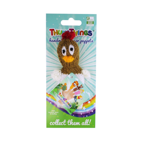 chicken finger puppet by thumbthings finger puppets