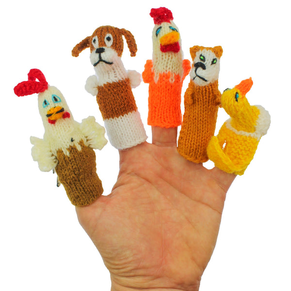 ThumbThings Handmade Finger Puppets, Farm Animal Collection